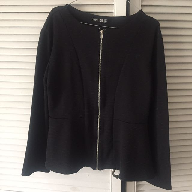 Boohoo Black Plus Size Peplum New No Tags