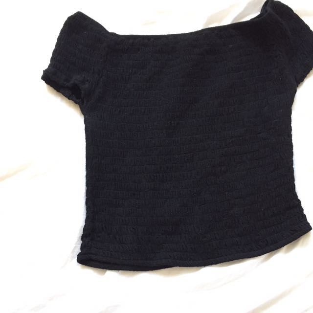 Brandy Melville off the shoulder black Charlene top