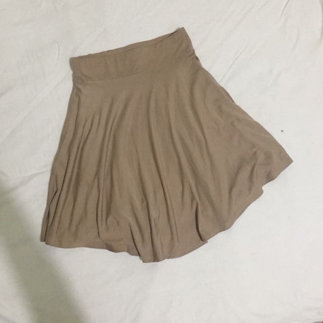 Brown Skater Skirt
