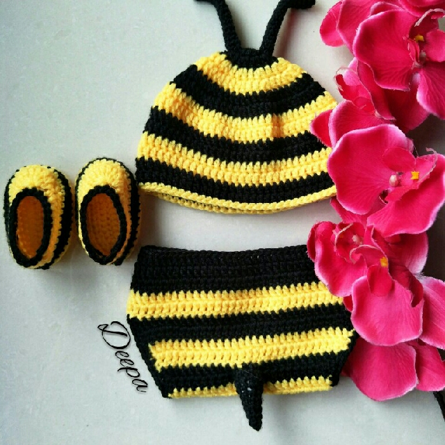8a3869452 Bumble Bee Newborn Baby Costume