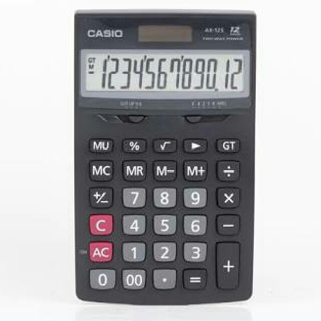 Casio Calculator AX-12S Two Way Power