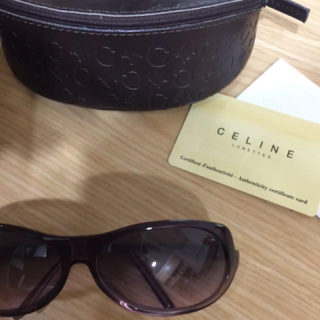 專櫃名牌Celine時尚紫墨鏡 太陽眼鏡