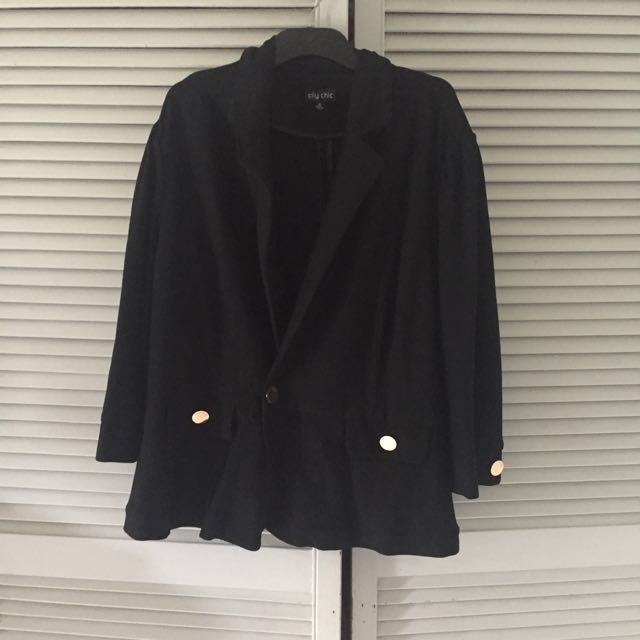 City Chic Plus Size Black Blazer