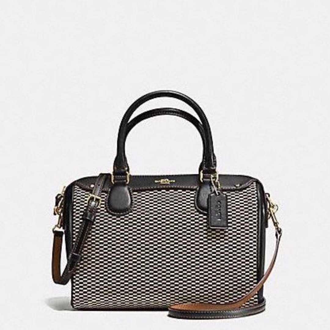 a6e103c50ee96 ... amazon coach mini bennett satchel in exploded reps print jacquard  imitation gold milk black f57242 womens