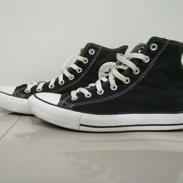 52f604df28561 Converse CT Hi Black White, Men's Fashion, Men's Footwear on Carousell