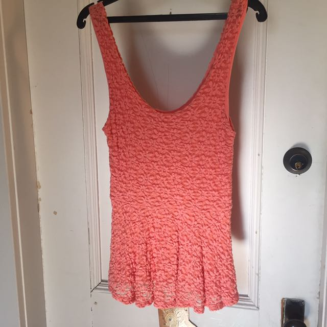 Coral Urban Outfitters Top