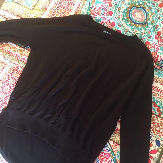 Cotton on black knit