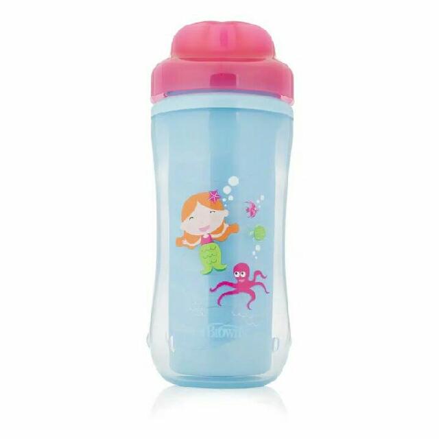 Dr.browns 300ml Spoutless Insulated Cup (Tahap 4, 12m+)- Free Tutup Cup,dg Bentuk Mulut Yg Menyerupai Cangkir Jual Rugi Aj,harga Beli 130rb... Di Jual Karena Punya 2