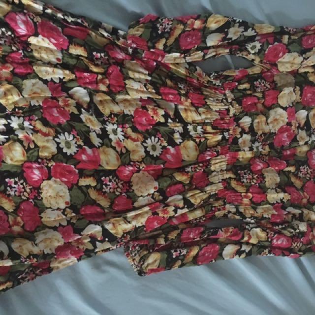 Floral 3/4 dress