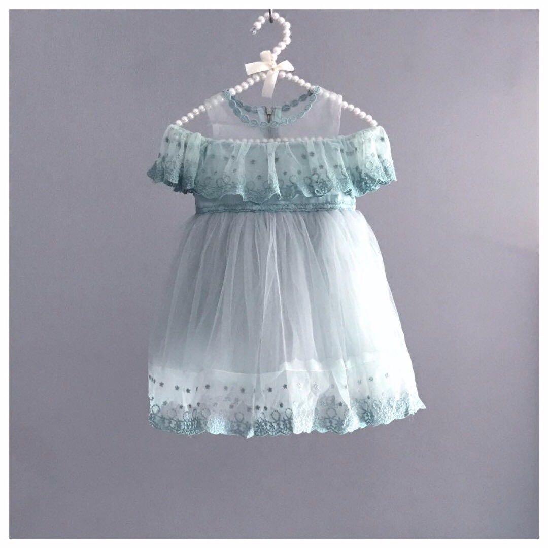 Frida Flower Girl Dress/ Birthday Dress/ Party Dress/ Green/ Formal ...