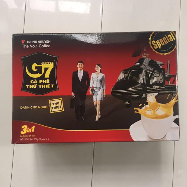 G7 越南 咖啡 一盒 進口 現貨 三合一 即溶咖啡 現貨 辦公室 上班族