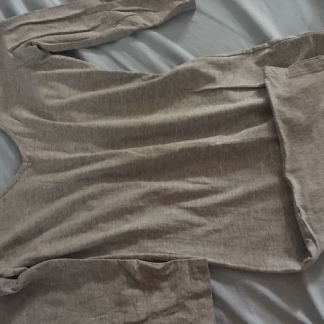 gray dress Medium Size