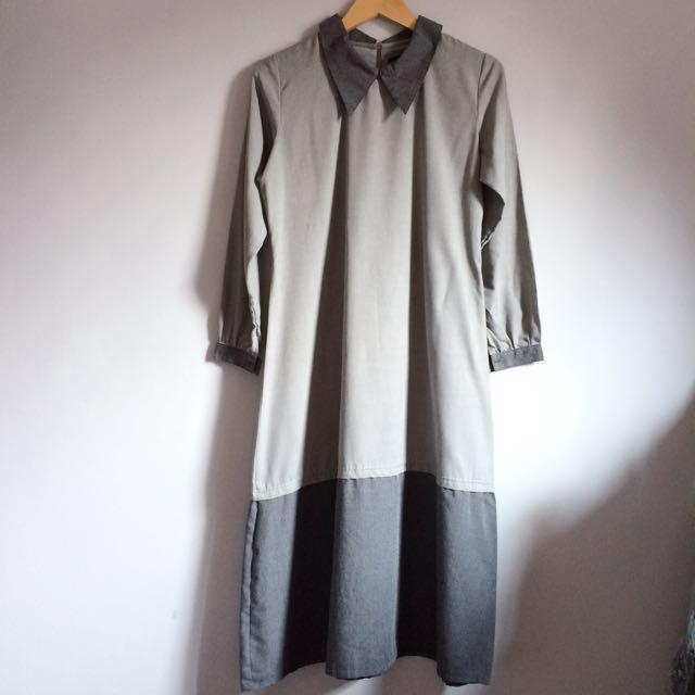 Grey Hijab Dress