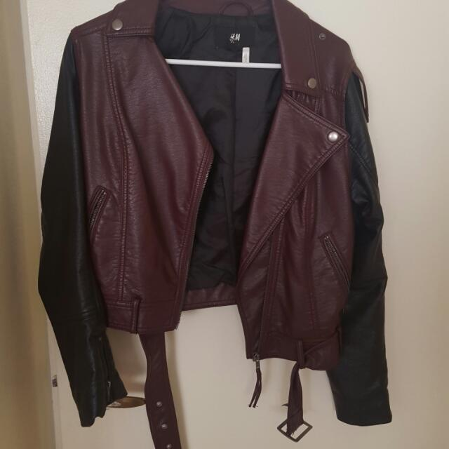 H&M Leatherr Jacket Size 8
