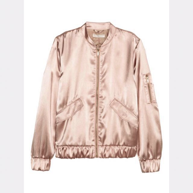 H&M satin pink bomber (S)