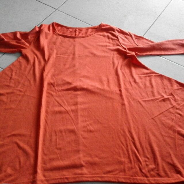 Kaos Batwing Orange #SSS #prelovedkusayang