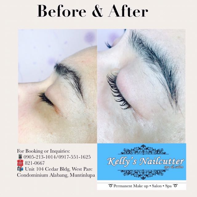Lash Lift With Semi Permanent Mascara Health Beauty Makeup On