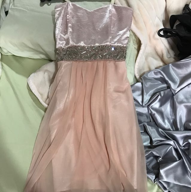 Light pink long gown