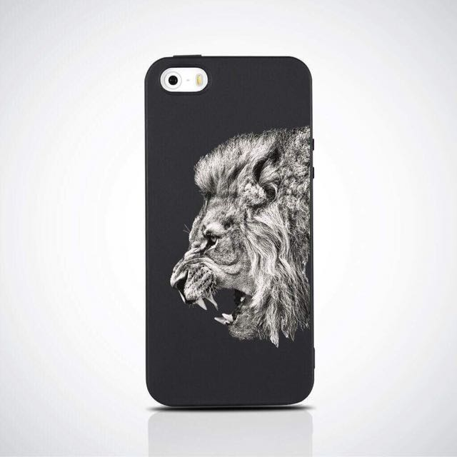 LION'S PRINTED SOFT MATTE CASE