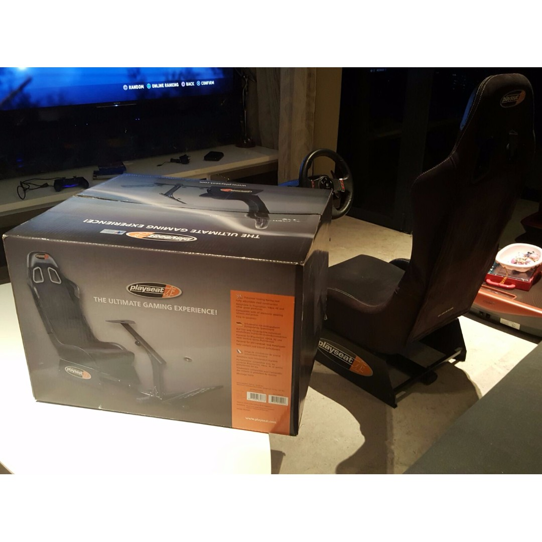 Logitech G27 Steering Wheel with Black Playseat Alcantara