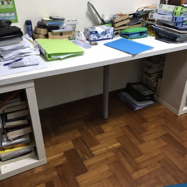 sports shoes d061b 79329 Long Study table 200cm, Furniture, Tables & Chairs on Carousell