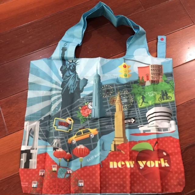 全新LOQI SONY聯名折疊尼龍購物袋環保袋超級耐重