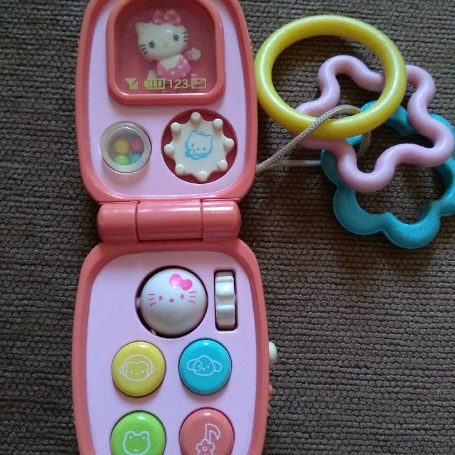 Mainan Bayi Handphone Hello Kitty Babies Kids Toys Walkers On