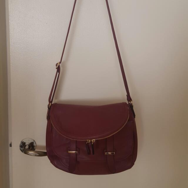 Maroon Saddle Bag