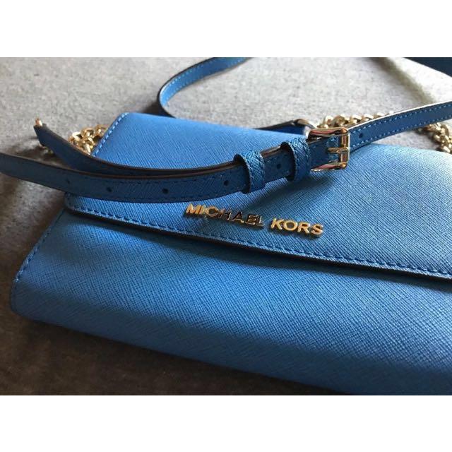 Michael kors 🇺🇸Daniela crossbody wallet bag 防刮皮革金鍊小背包