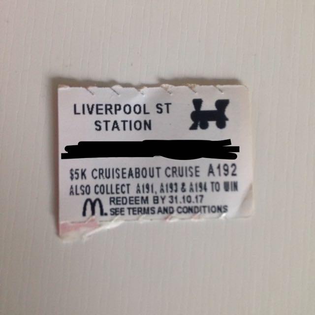 Monopoly McDonald's - Liverpool St. Station