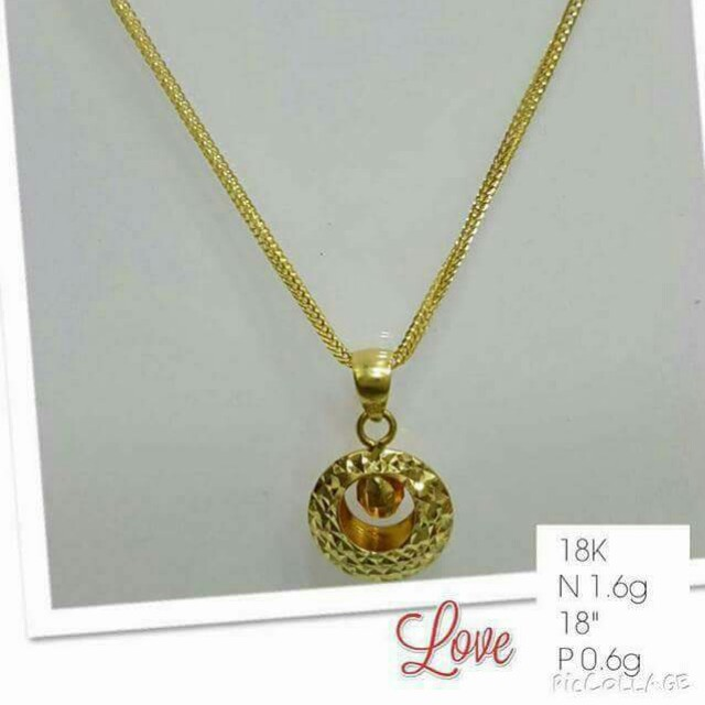 Necklace 18k pawnable