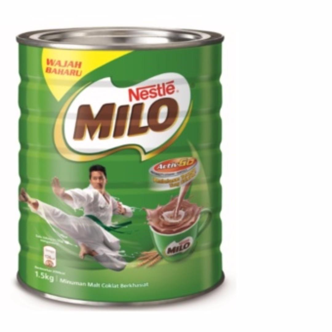 Nestle Milo Tin 1 kg 1kg 1.5 1.5kg 2 2kg expiry Julai 2019