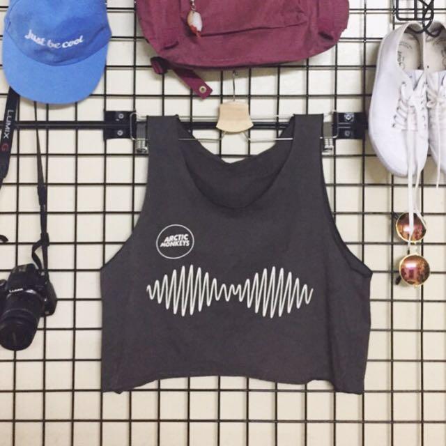 Olive Arctic Monkeys Muscle Shirt