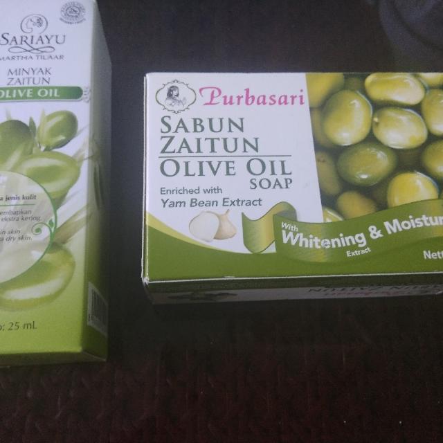 Olive Oil /Minyak Zaitun Sabun dan Face & Body Oil
