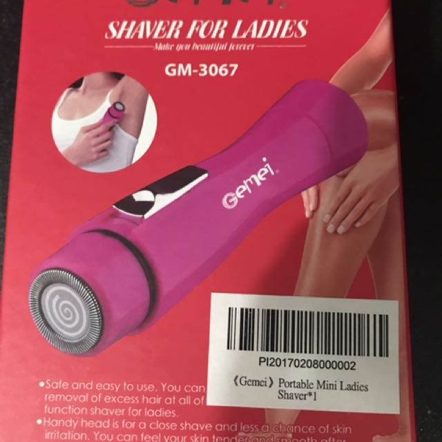 Portable mini ladies shaver