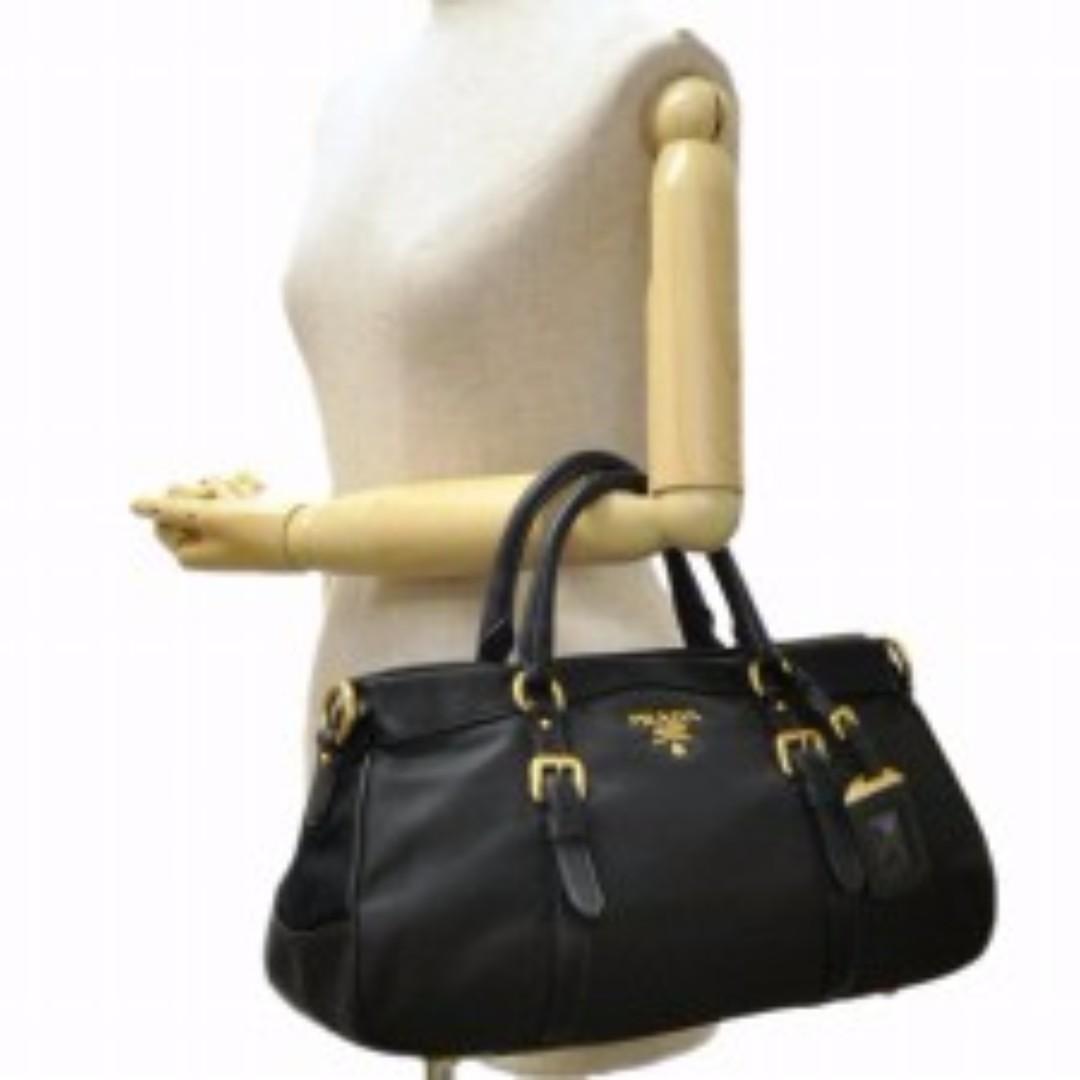 8c3b04218e4339 PRADA BN2032 TESSUTO NYLON & SOFT CALF LEATHER TRIM TOP HANDLE CONVERTIBLE  BAG, Luxury, Bags & Wallets on Carousell