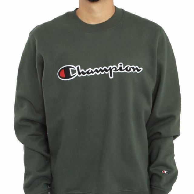 f381c7b69398  PREORDER  Champion LIFE Super Fleece 2.0 Graphic Script Crewneck Pullover