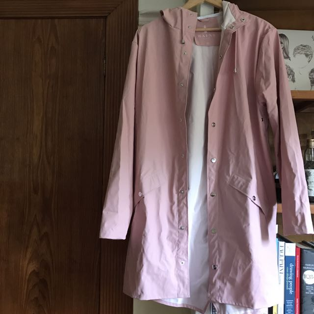 RAINS coat, dusty pink