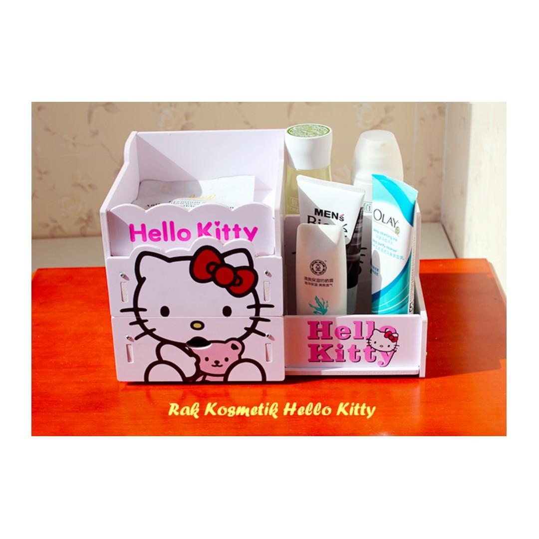 Rak Kosmetik HELLO KITTY (Ada laciny, muat banyak kosmetik)