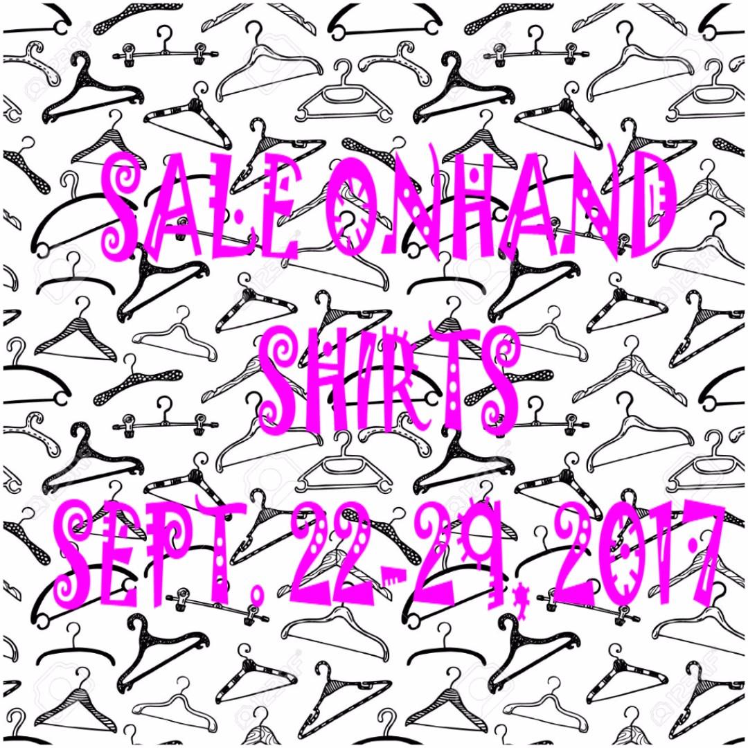 Sale Onhand Shirts