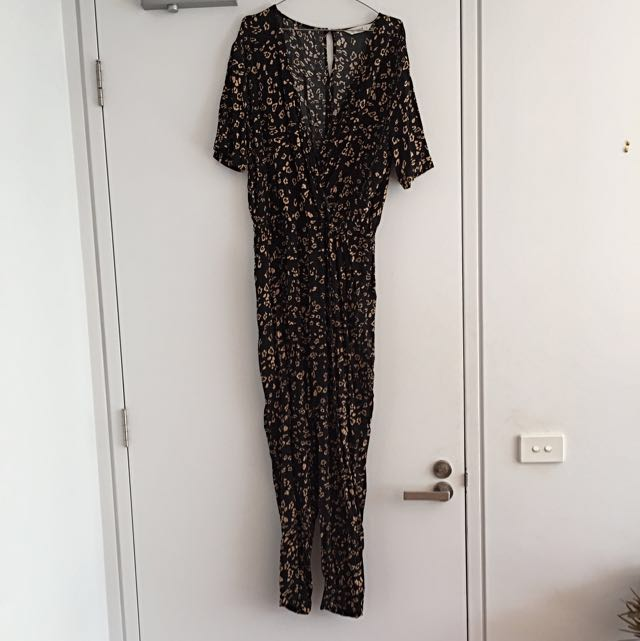 Seed Animal Print Jumpsuit Size 12