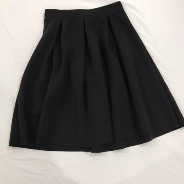 Sfera Black Midi Skirt
