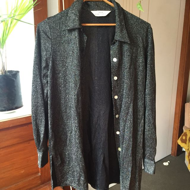 Silver sparkly vintage shirt