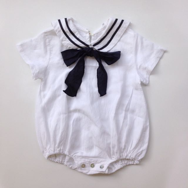 (Size 12-18M) Girl's Sailor Romper