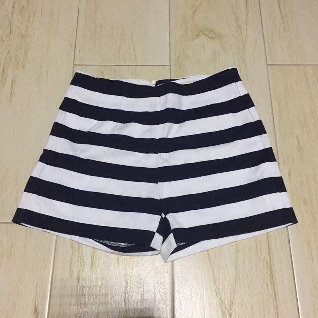 Stradivarius High Waist Stripes Shorts