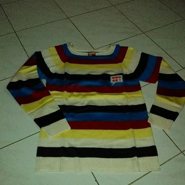Sweater Garis2 Bun Knit