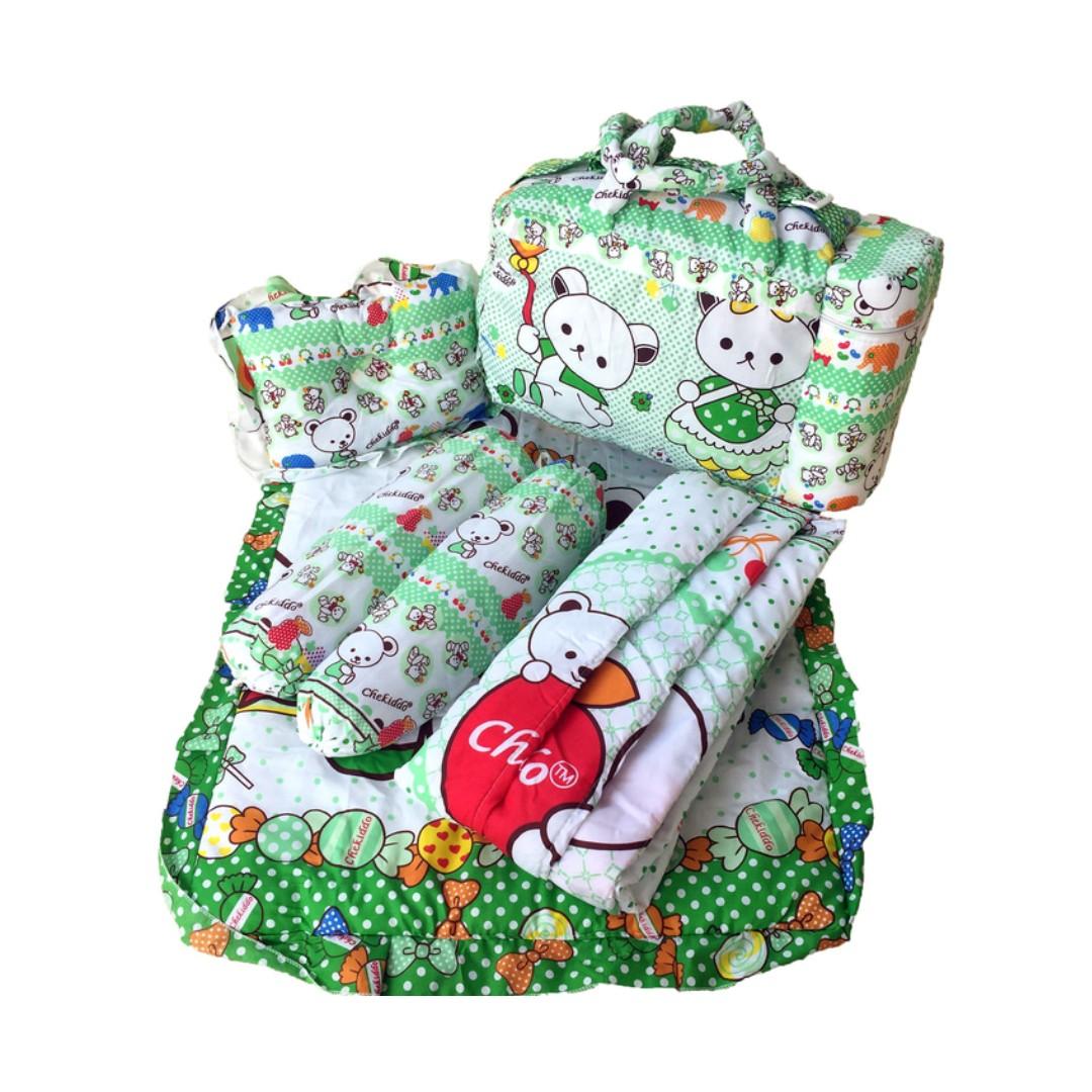 Tas Bantal Guling Gendongan Alas Tidur Perlak Bayi Set 4 in 1 Chekiddo