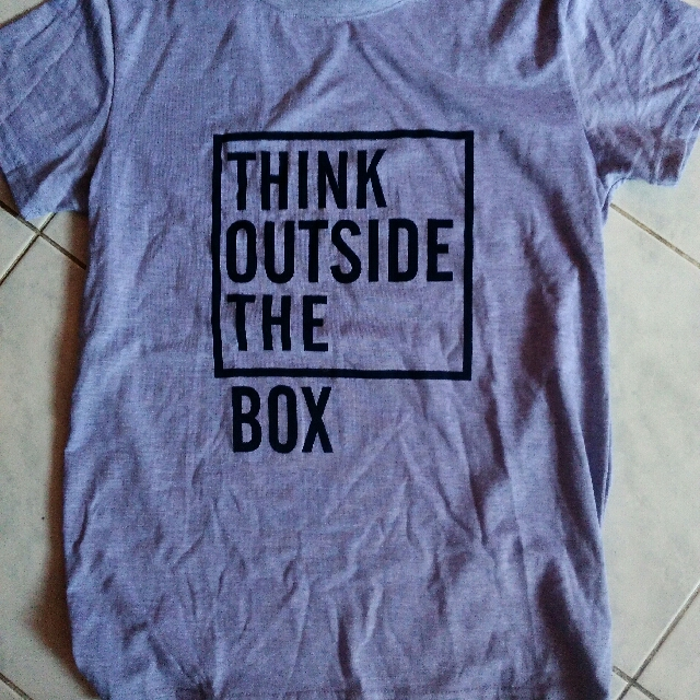 Think Outside The Box Statement Tee