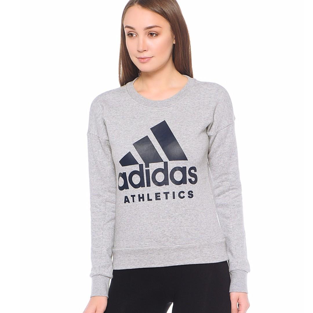 【吉米.tw】adidas Sport ID 愛迪達灰色 灰 長袖 棉T 棉質 大學T TEE 衛衣 S97068