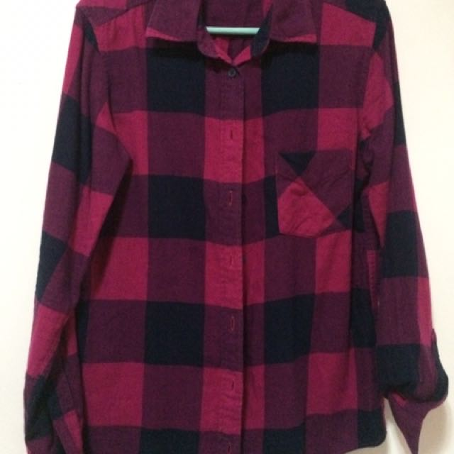 Uniqlo Checkered Long Sleeve